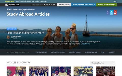 Screenshot of Blog ratemystudyabroad.com - Study Abroad Articles | GoAbroad.com - captured Oct. 26, 2014