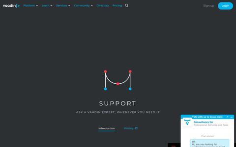 Screenshot of Support Page vaadin.com - Support   Vaadin - captured Feb. 1, 2019
