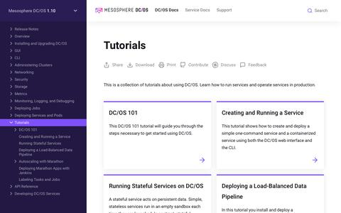 Tutorials - Mesosphere DC/OS Documentation