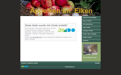 Screenshot of About Page jimdo.com - Impressum - aeppelkenuneikens Webseite! - captured Dec. 29, 2016