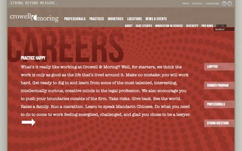 Screenshot of Jobs Page crowell.com - Careers|Crowell & Moring - captured Oct. 3, 2014