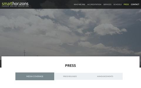 Screenshot of Press Page shcoe.org - Smart Horizons |  Press - captured Feb. 15, 2016