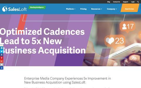 Screenshot of Case Studies Page salesloft.com - Optimized Cadences Lead to 5x New Business Acquisition - SalesLoft - captured Sept. 19, 2018