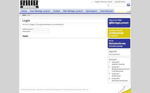 Screenshot of Login Page espritscholen.nl - Login - captured Sept. 30, 2014