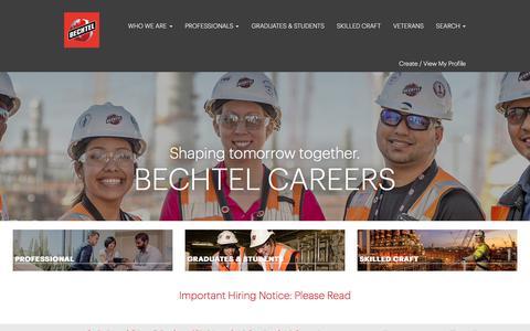 Jobs at Bechtel
