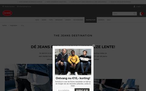 Screenshot of Blog score.nl - Score blog - Buitengewoon jeans advies | De jeansstore voor mannen - captured Feb. 11, 2019