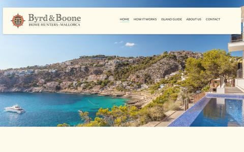 Screenshot of Home Page byrd-boone.com - Byrd & Boone   Overseas Home Hunters - Mallorca - captured Oct. 5, 2014