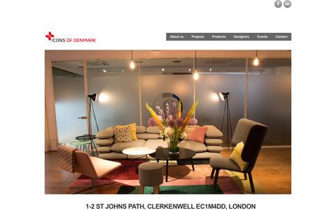 Screenshot of Home Page iconsofdenmark.dk - iconsofdenmark Icons of Denmark representing Danish furniture brands in London - captured Oct. 6, 2014