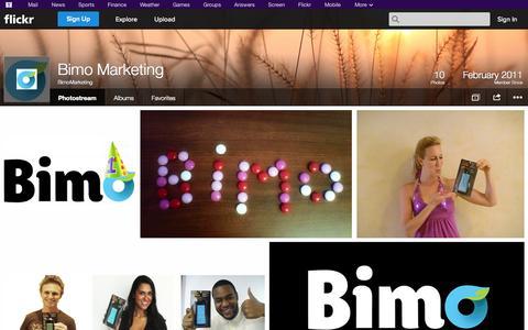 Screenshot of Flickr Page flickr.com - Flickr: BimoMarketing's Photostream - captured Oct. 23, 2014