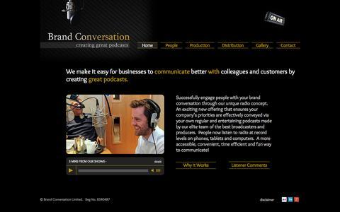 Screenshot of Home Page brand-conversation.co.uk - Brand Conversation - captured Jan. 21, 2015