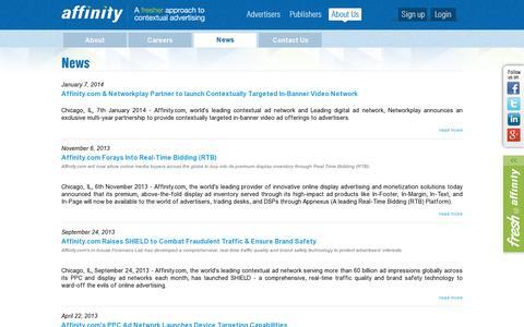 Screenshot of Press Page affinity.com - News & Press Releases | Affinity.com - captured July 18, 2014