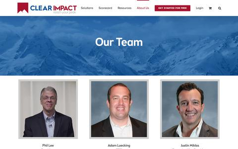 Screenshot of Team Page clearimpact.com - Consultants - Clear Impact - captured July 21, 2019