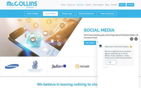 Screenshot of Services Page mccollinsmedia.com - Social Media Agency in Dubai, Social Media Marketing Services Dubai - captured Sept. 20, 2018