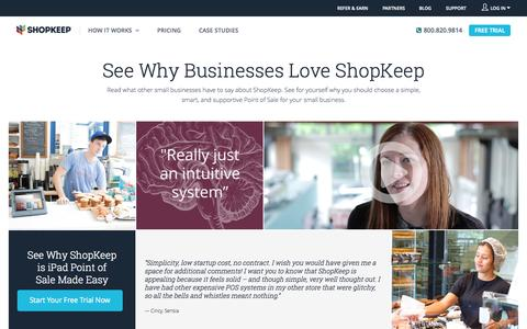 Screenshot of Testimonials Page shopkeep.com - Point of Sale System Testimonials | ShopKeep - captured Oct. 20, 2015