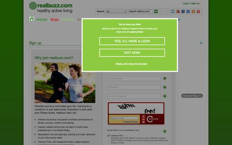Screenshot of Signup Page realbuzz.com - Sign up | realbuzz - captured Oct. 31, 2014