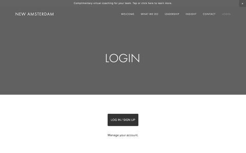 Screenshot of Login Page thinknewamsterdam.com - Login — New Amsterdam - captured Oct. 19, 2018
