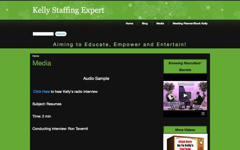 Screenshot of Press Page kellystaffingexpert.com - Media  | Kelly Staffing Expert - captured Sept. 30, 2014
