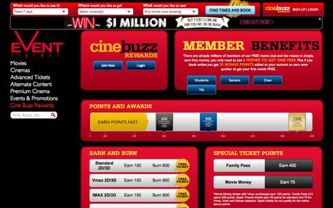 Screenshot of Signup Page eventcinemas.co.nz - Join our member programs - captured Nov. 1, 2014