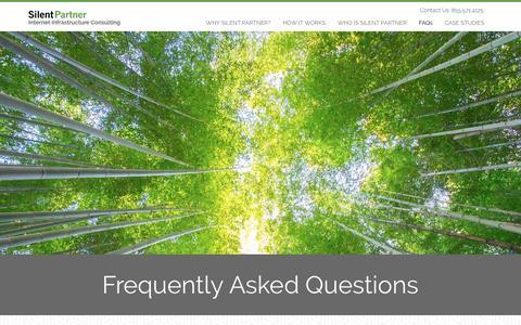 Screenshot of FAQ Page gosilentpartner.com - FAQ - captured Nov. 29, 2016
