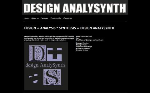 Screenshot of designanalysynth.yolasite.com - Design AnalySynth - captured Oct. 11, 2014