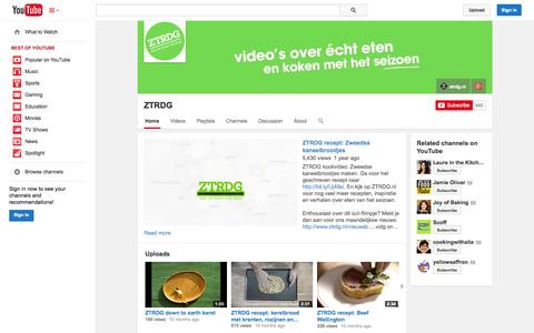 Screenshot of YouTube Page youtube.com - ZTRDG  - YouTube - captured Oct. 25, 2014