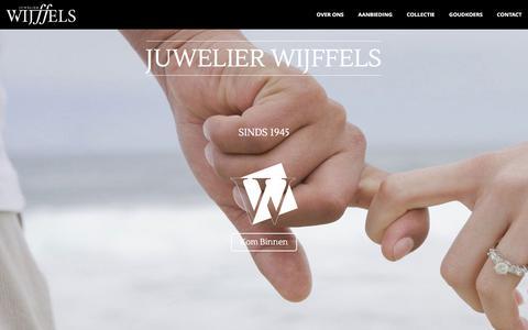 Screenshot of Home Page juwelierwijffels.nl - Juwelier Wijffels – Juwelier – Edelsmederij – Horloger – Gevestigd te Terneuzen sinds 1945 - captured June 8, 2017