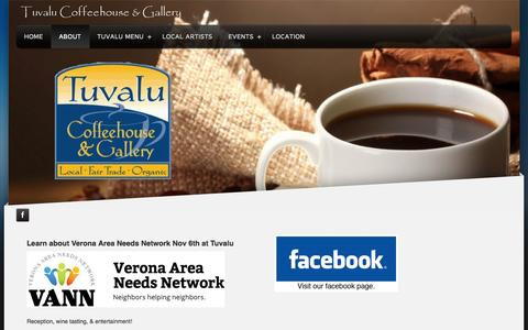 Screenshot of About Page tuvalucoffeehouse.com - Tuvalu Coffee House - About - captured Nov. 5, 2014