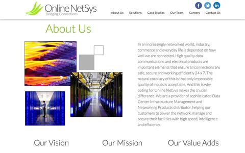 Screenshot of About Page onlinenetsys.com - About Us  | Online Net Sys - captured Feb. 14, 2016
