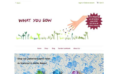 Screenshot of Home Page whatyousow.co.uk - for people who love to grow things - captured Sept. 30, 2014