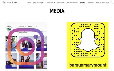 Screenshot of Press Page google.com - BAMUN XVII - Media - captured Feb. 26, 2018