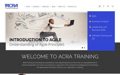 Screenshot of Home Page acratraining.com - IT Training & Consulting | Agile | Project & Business Management - captured Nov. 19, 2016