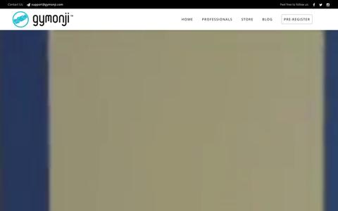 Screenshot of Home Page gymonji.com - Home - Gymonji - captured Jan. 26, 2016