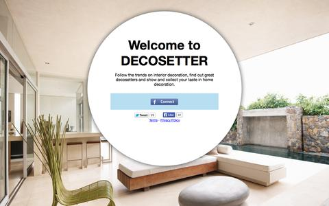 Screenshot of Signup Page decosetter.com - Welcome to Decosetter - captured Sept. 30, 2014