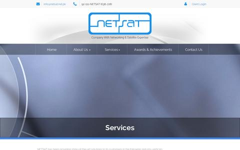 Screenshot of Services Page netsat.net.pk - Services | netsat - captured Nov. 5, 2014
