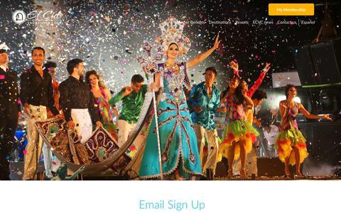 Screenshot of Signup Page elcidvacationsclub.com - Sign Up - El Cid Vacations Club - captured Sept. 27, 2018