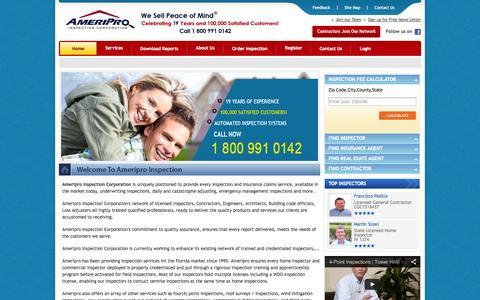Screenshot of Home Page chooseameripro.com - Ameripro Inspection - captured Oct. 4, 2014