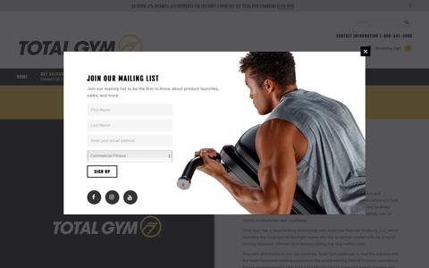 Screenshot of About Page totalgym.com - About – Total Gym® - Global Leader in Functional Training Since 1974 - captured Oct. 20, 2018