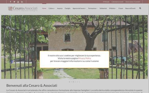 Screenshot of Home Page cesaroeassociati.it - Cesaro e associati | Cultura Impresa Famiglia - captured Aug. 16, 2015