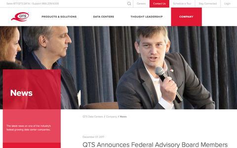 Screenshot of Press Page qtsdatacenters.com - News   QTS Data Centers - captured Dec. 29, 2017