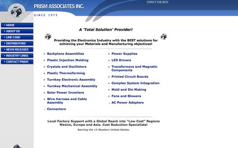 Screenshot of Home Page callprism.com - PRISM Associates Inc. - captured Oct. 1, 2014