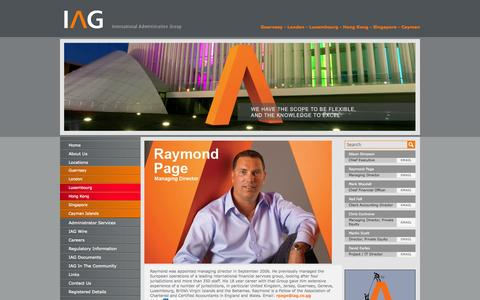 Screenshot of Locations Page iag.co.gg - Venture Capital Funds - IAG - Raymond Page - captured Oct. 3, 2014