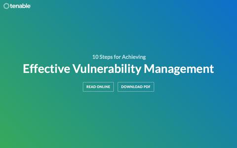 [eBook] 10 Steps for Achieving Effective Vulnerability Management