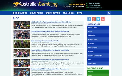 Screenshot of Blog australiangambling.com.au - Blog  | Australian Gambling - captured May 31, 2017