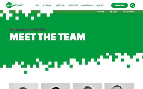 Screenshot of Team Page opmjobs.com - Team – OPM Recruitment - captured Oct. 23, 2017