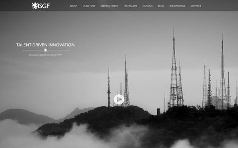 Screenshot of Home Page isgf.com - ISGF - captured Feb. 4, 2016