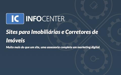 Screenshot of Home Page icinformatica.com.br - Sites para Imobiliárias e Corretores de Imóveis - IC InfoCenter - captured March 4, 2016