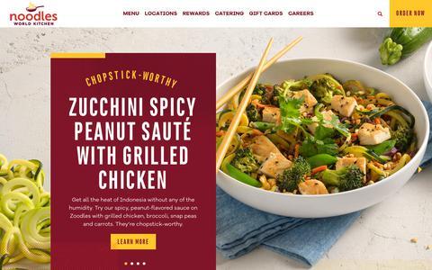 Screenshot of Home Page noodles.com - Home ~ Noodles World Kitchen - captured Oct. 13, 2018