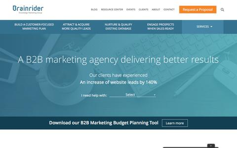 B2B Marketing Agency - Brainrider