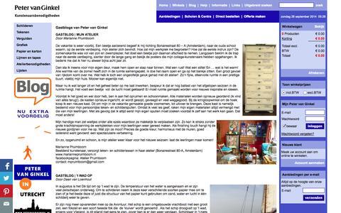 Screenshot of Blog petervanginkel.nl - Gastblogs van Peter van Ginkel | Peter van Ginkel - captured Sept. 29, 2014