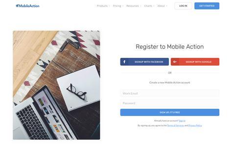 Register | Mobile Action - App Marketing Intelligence Tool